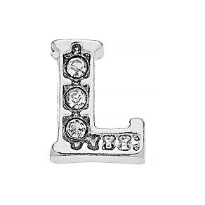 Lavish Lockets  Stone Set 'L' Charm - Product number 3859568