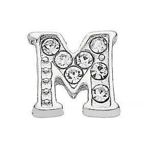 Lavish Lockets  Stone Set 'M' Charm - Product number 3859576