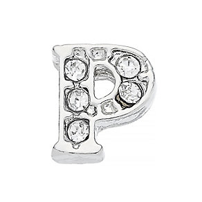 Lavish Lockets  Stone Set 'P' Charm - Product number 3859592