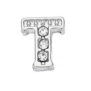 Lavish Lockets  Stone Set 'T' Charm - Product number 3859630