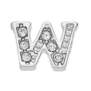 Lavish Lockets  Stone Set 'W' Charm - Product number 3859665