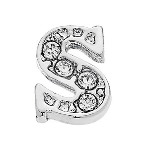 Lavish Lockets  Stone Set 'S' Charm - Product number 3859886