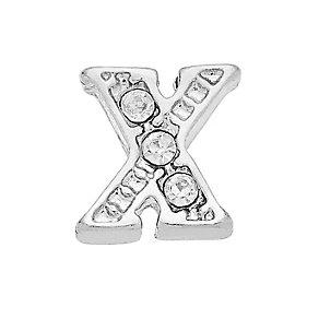 Lavish Lockets  Stone Set 'X' Charm - Product number 3860000