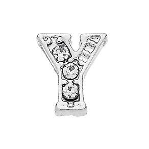 Lavish Lockets  Stone Set 'Y' Charm - Product number 3860019