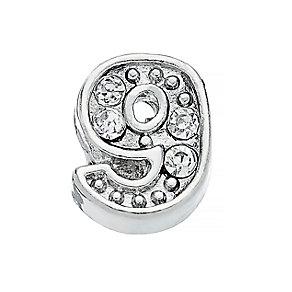 Lavish Lockets  Stone Set '9' Charm - Product number 3860175