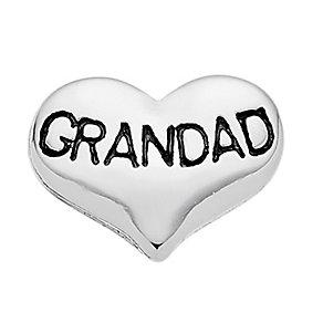 Lavish Lockets  Heart Shaped 'Grandad' Charm - Product number 3860264