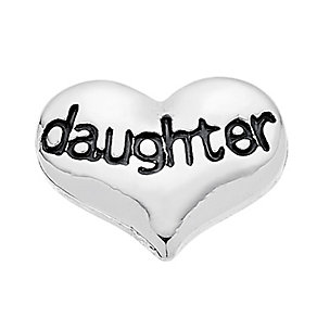 Lavish Lockets  Heart Shaped 'Daughter' Charm - Product number 3860302