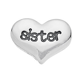 Lavish Lockets  Heart Shaped 'Sister' Charm - Product number 3860310