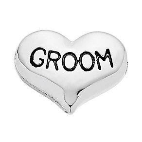 Lavish Lockets  Heart Shaped 'Groom' Charm - Product number 3860477