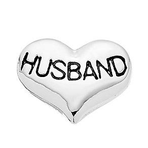 Lavish Lockets  Heart Shaped 'Husband' Charm - Product number 3860485