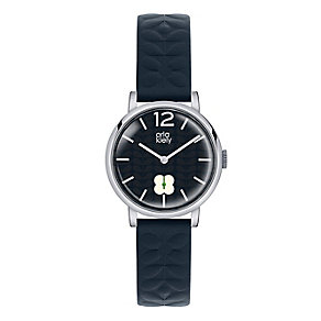 Orla Kiely Ladies' Navy Dial Navy Leather Strap Watch - Product number 3860779