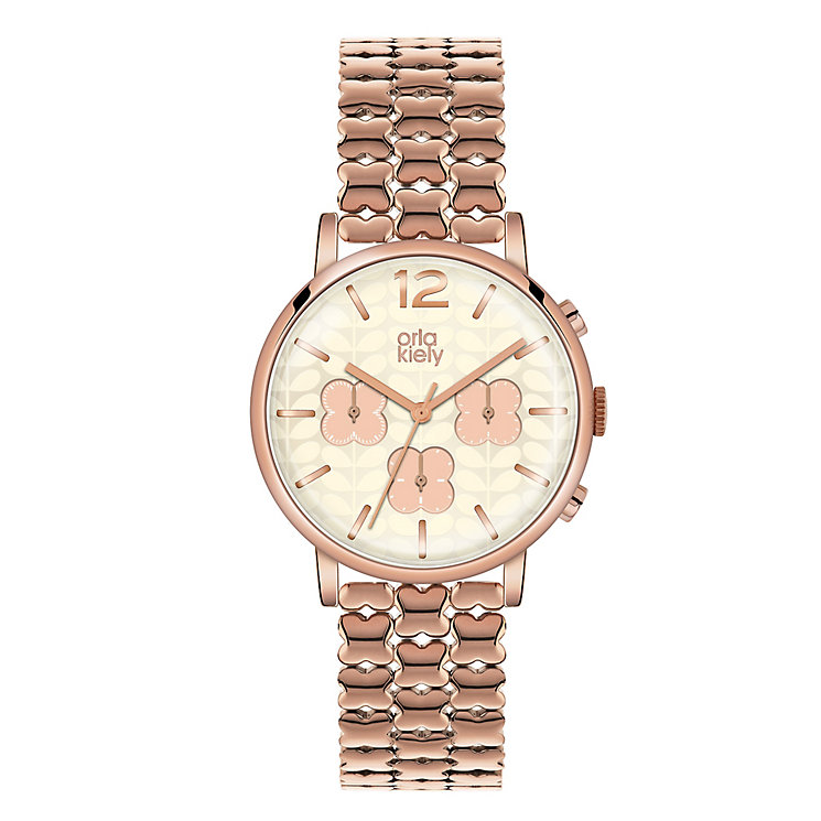 Orla Kiely Ladies' Rose Gold-Plated Bracelet Watch - Product number 3860930