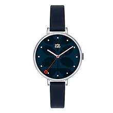 Orla Kiely Ladies' Navy Dial Navy Leather Strap Watch - Product number 3861031