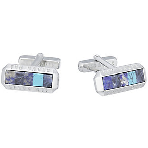 Ted Baker Stainless Steel Blue Cufflinks - Product number 3861694