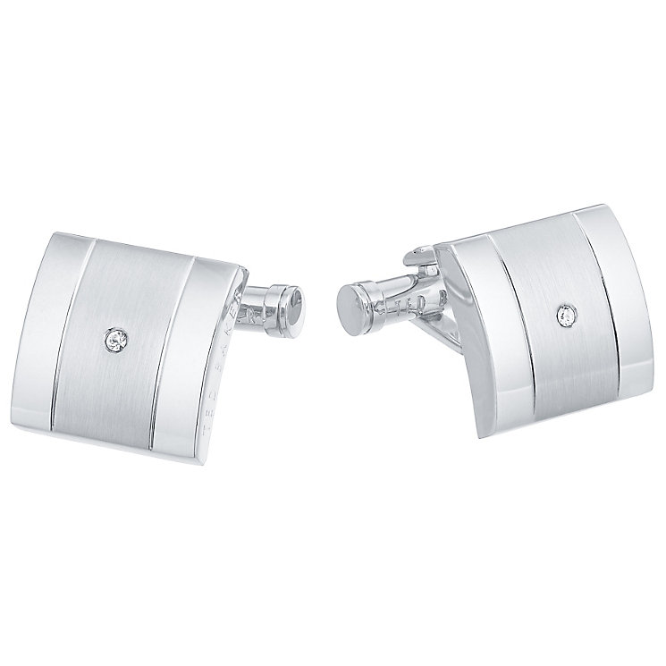 Ted Baker Stainless Steel Stone Set Cufflinks - Product number 3861791