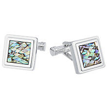 Ted Baker Stainless Steel Green Mosaic Cufflinks - Product number 3862143