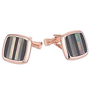 Ted Baker Rose Gold Tone Stripe Cufflinks - Product number 3862526