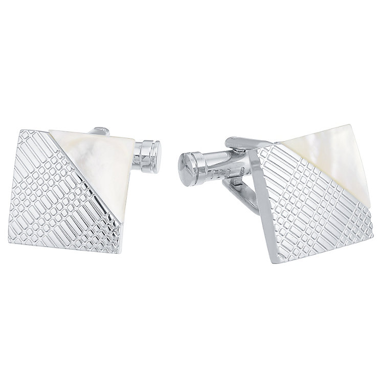 Ted Baker Stainless Steel Mother Of Pearl Cufflinks - Product number 3862542