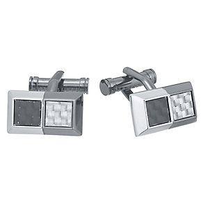 Ted Baker Stainless Steel Checker Cufflinks - Product number 3862577