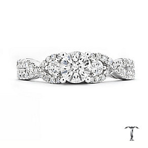 Tolkowsky 18ct white gold 1ct diamond crossover ring - Product number 3864650