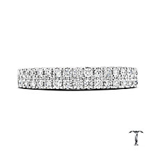 Tolkowsky 18ct white gold 1/2ct diamond two row band - Product number 3865193