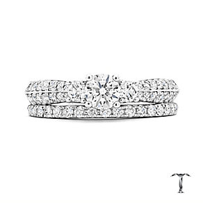 Tolkowsky 18ct white gold 1ct diamond bridal set - Product number 3866416