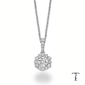 Tolkowsky 18ct white gold 3/4ct diamond flower pendant - Product number 3867161