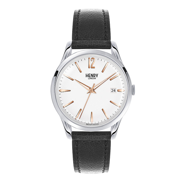 Henry London Men's Highgate Black Leather Strap Watch - Product number 3870030