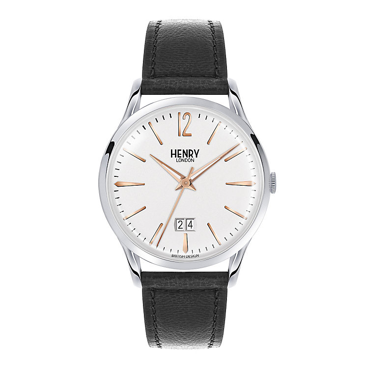 Henry London Men's Highgate Black Leather Strap Watch - Product number 3870049