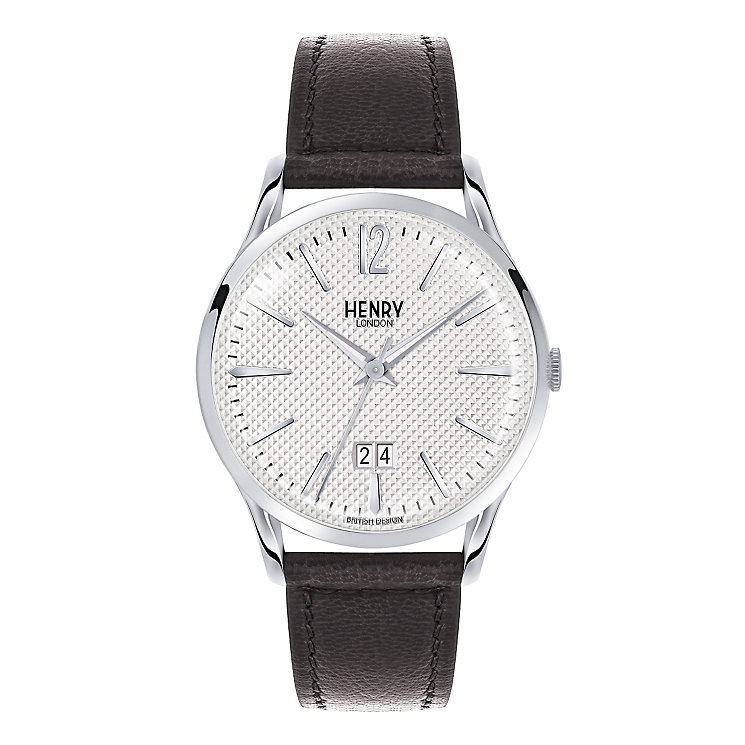 Henry London Men's Edgware Black Leather Strap Watch - Product number 3870103