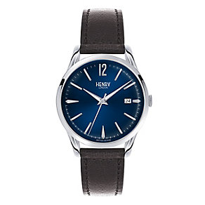 Henry London Men's Knightsbridge Blue Dial Strap Watch - Product number 3870499