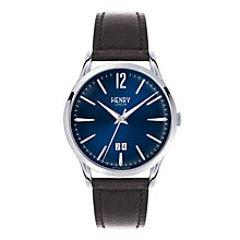 Henry London Men's Knightsbridge Blue Dial Strap Watch - Product number 3870502