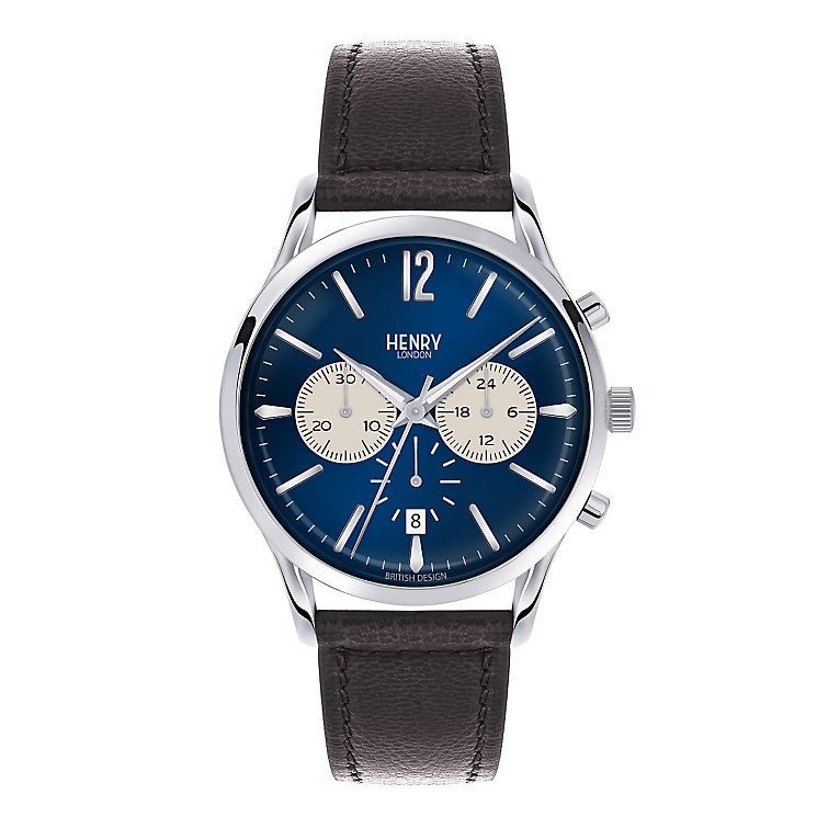 Henry London Men's Knightsbridge Blue Dial Strap Watch - Product number 3870510