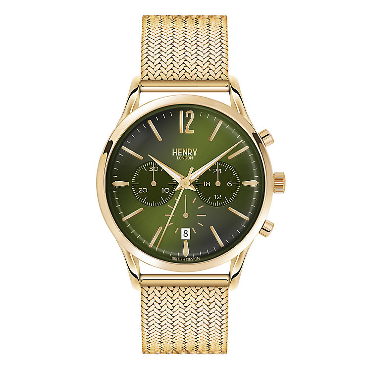 Henry London Men's Knightsbridge Gold-Plated Bracelet Watch - Product number 3870863