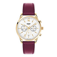 Henry London Ladies' Holborn Burgundy Leather Strap Watch - Product number 3870987