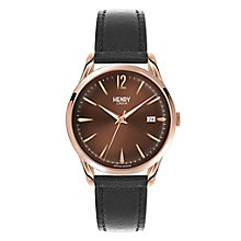 Henry London Men's Harrow Brown Dial Leather Strap Watch - Product number 3871312