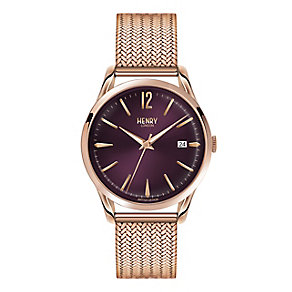 Henry London Ladies' Rose Gold-Plated Mesh Bracelet Watch - Product number 3871320