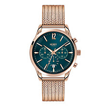 Henry London Men's Stratford Rose Gold-Plated Bracelet Watch - Product number 3871339