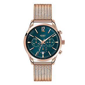 Henry London Men's Rose Gold-Plated Mesh Bracelet Watch - Product number 3871339