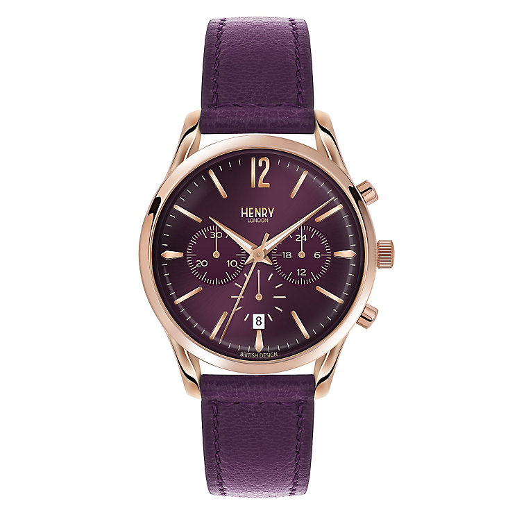 Henry London Ladies' Hampstead Purple Dial Strap Watch - Product number 3871533