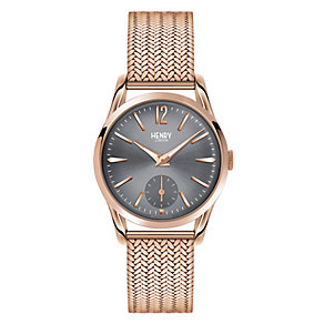 Henry London Ladies' Rose Gold-Plated Mesh Bracelet Watch - Product number 3871584