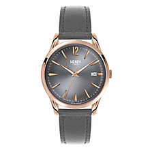 Henry London Ladies' Finchley Grey Dial Leather Strap Watch - Product number 3871592