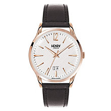 Henry London Men's Highgate Black Leather Strap Watch - Product number 3871649