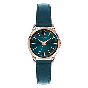 Henry London Ladies' Green Dial Green Leather Strap Watch - Product number 3871827