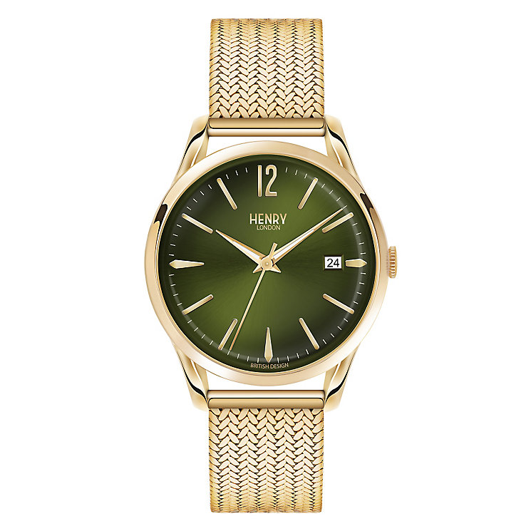 Henry London Men's Chiswick Gold-Plated Mesh Bracelet Watch - Product number 3871886