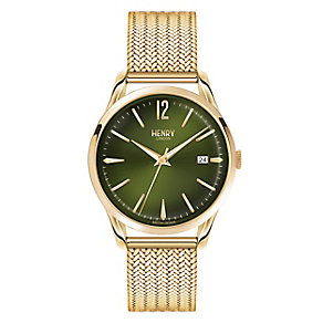Henry London Men's Gold-Plated Mesh Bracelet Watch - Product number 3871886