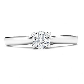 Tolkowsky 14ct White Gold 1/2 Carat Diamond Solitaire Ring - Product number 3873803