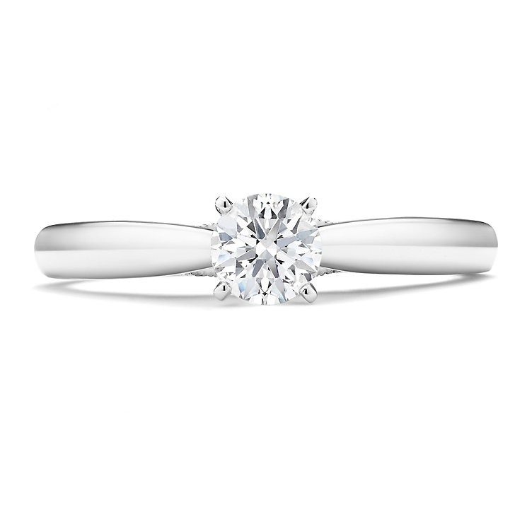 Tolkowsky 14ct White Gold 0.35 Carat Diamond Solitaire Ring - Product number 3874060