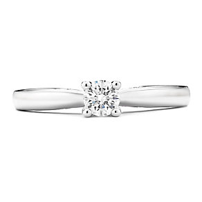 Tolkowsky 14ct White Gold 0.30 Carat Diamond Solitaire Ring - Product number 3874192