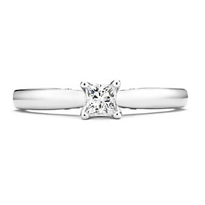 Tolkowsky 14ct White Gold 0.30 Carat Diamond Solitaire Ring - Product number 3874354